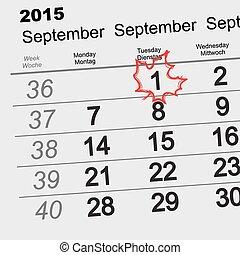 September 1 - back to school