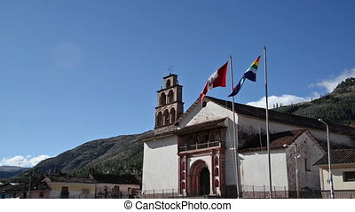 Church in Oropesa, Peru - Historic colonial church in the...