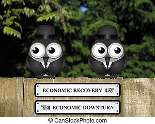 Economic Recovery or Downturn - Comical economic recovery...