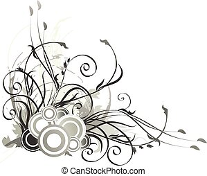 Floral background Vector illustration with branches and...