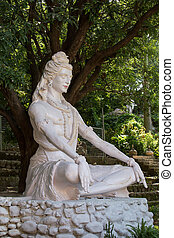 Shiva statue in Rishikesh, India
