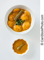 Indian sambar mini idly - A traditional ethnic south Indian...