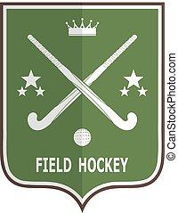 d1504-22p3n2.eps - Green badge for the team field hockey on...