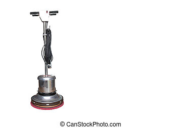 Floor Scrubber - Floor scrubber isolated on white...