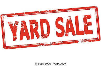 Yard sale - Rubber stamp with text yard sale inside, vector...