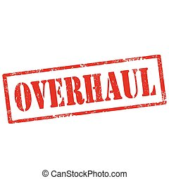 Overhaul - Grunge rubber stamp with text Overhaul,vector...