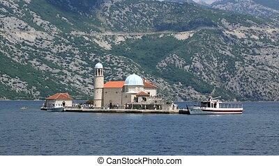 Our Lady of the Rocks is island and church near Perast in...