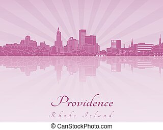 Providence skyline in purple radiant orchideps - Providence...