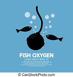Fish Oxygen. - Fish Oxygen Vector Illustration.