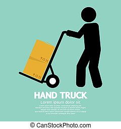 Hand Truck. - Hand Truck Vector Illustration.