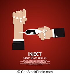 Inject. - Inject Vector Illustration.