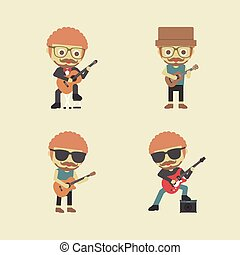 guitarist - type of guitarist, retro and pastel style