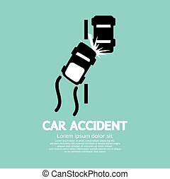 Car Accident. - Car Accident Vector Illustration.
