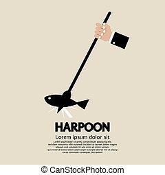 Harpoon. - Harpoon Vector Illustration.