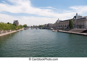 Royal Bridge - a bridge over the Seine in Paris between the...