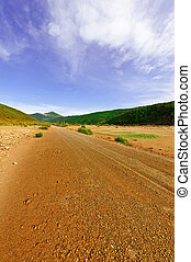 Dirt Road in the Valley of the Cantabrian Mountains in Spain