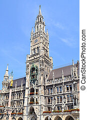Munich New Town Hall - Munich, Germany. The historical...