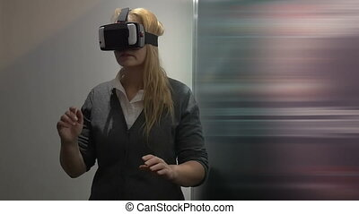 Traveling in virtual space with special headset