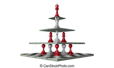 Monarchy (pyramid of power) - Chess (hierarchical pyramid)....