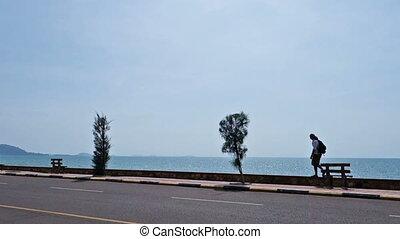 Man Walking Away along s