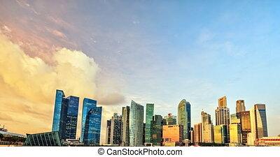 Singapore timelapse panorama