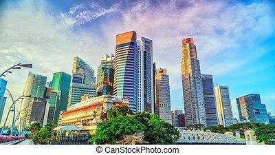 Singapore timelapse panorama - Skyline of Singapores Central...