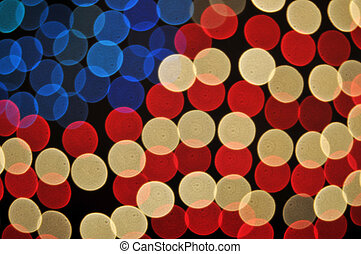 Abstract Bokeh American Flag Background on black