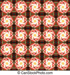 Abstract glowing flower seamless pattern background