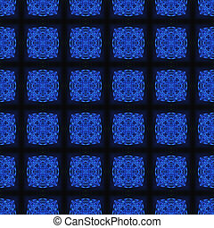 Blue Crystal Seamless Pattern Background