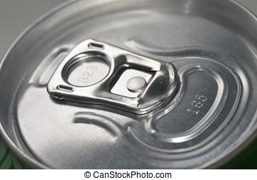 Top of Closed Aluminium Can Ring Pull
