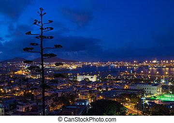 Las Palmas de Gran Canaria, Aerial view, evening