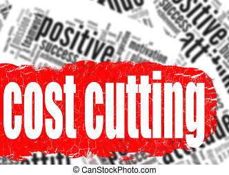 Word cloud cost cutting image with hi-res rendered artwork...