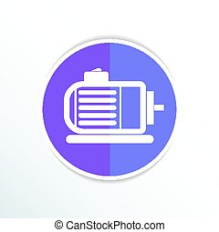 Electric motor icon vector engine symbol power