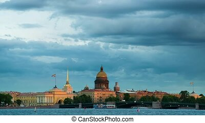 St Isaacs Cathedral and other historical buildings Russia -...