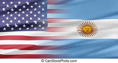 EUA, e, Argentina,