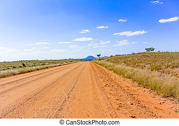 Landscape near Windhoek in South Africa - Road to...