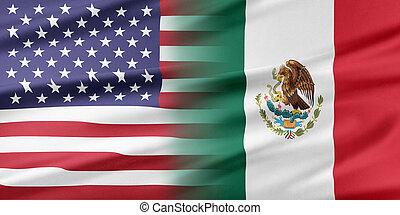 estados unidos de américa, y, México,