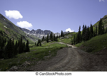 Mountain Road - A road through the Sangre de Cristo...