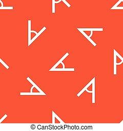 Orange angle pattern - Image of angle, repeated on orange...