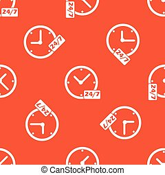 Orange overnight daily workhours pattern