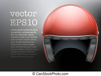 Red Motorcycle helmet