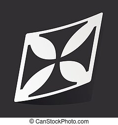 Monochrome maltese cross sticker - White sticker with black...
