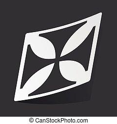 Monochrome maltese cross sticker - White sticker with black...