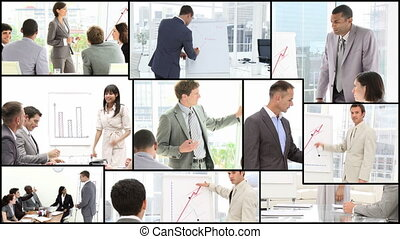 Business presentation - People engaged in a Business...