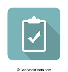 Square clipboard YES icon