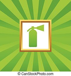 Fire extinguisher picture icon - Image of fire extinguisher...