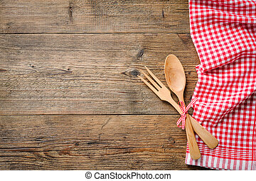 Napkin with wooden spoon