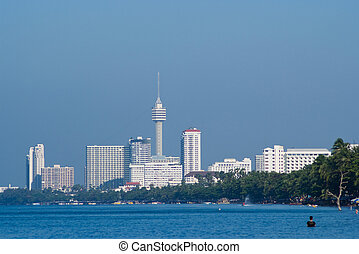 Jomtien Beach, Pattaya, Thailand - Jomtien Beach in Pattaya,...
