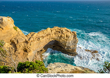 Port Campbell Victoria - A Huge Wave Crashing into the Arch...