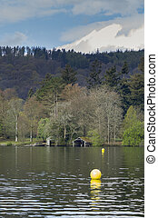Boathouse on the lake - Boathouse on Lake Windermere in the...